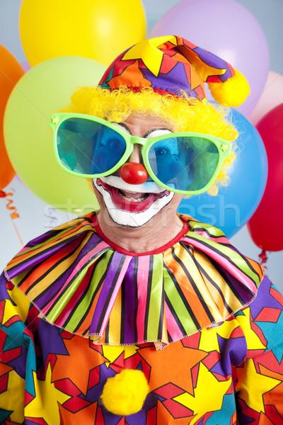 Humoristique anniversaire clown drôle Photo stock © lisafx