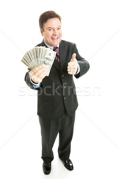 Businessman Cash Stock photo © lisafx