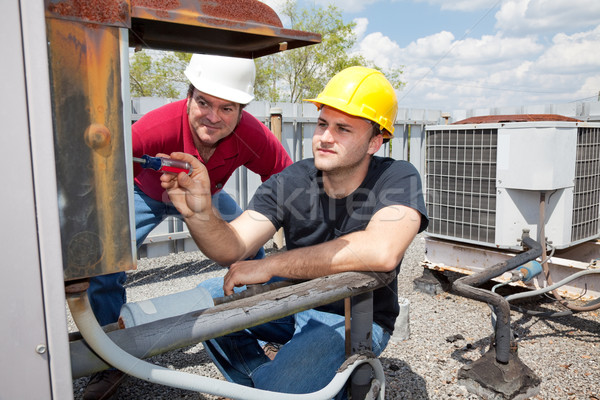 Apprentice Air Conditioning Repairman Stock photo © lisafx