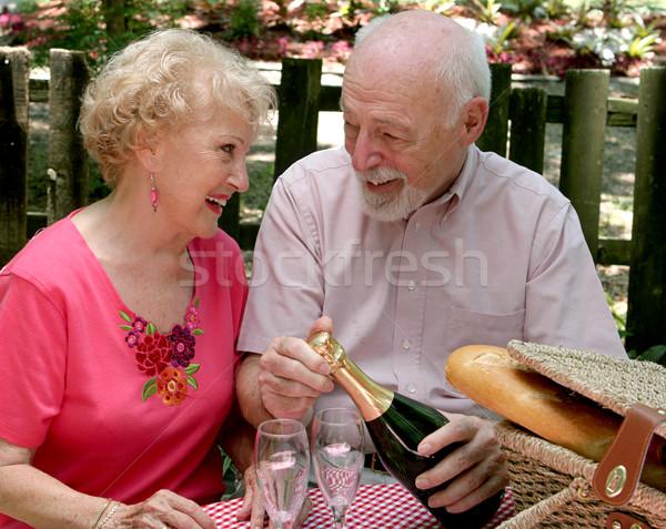 Picnic Seniors - Loving Gaze Stock photo © lisafx