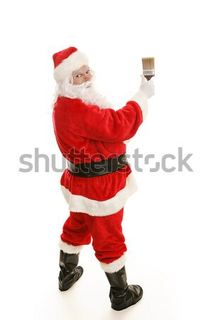 Santa with Paintbrush Complete Stock photo © lisafx