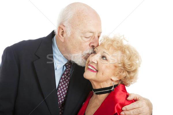 Seniors - Holiday Kiss Stock photo © lisafx