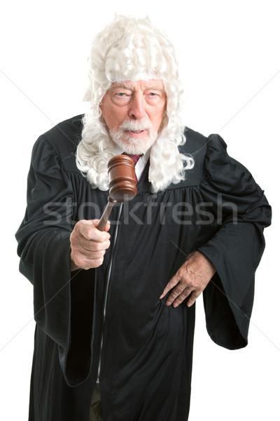 İngilizler yargıç peruk öfkeli firma stil Stok fotoğraf © lisafx