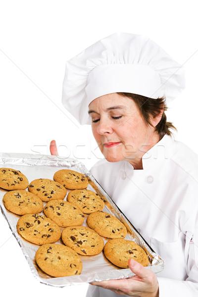 Chef Bakes Cookies Stock photo © lisafx