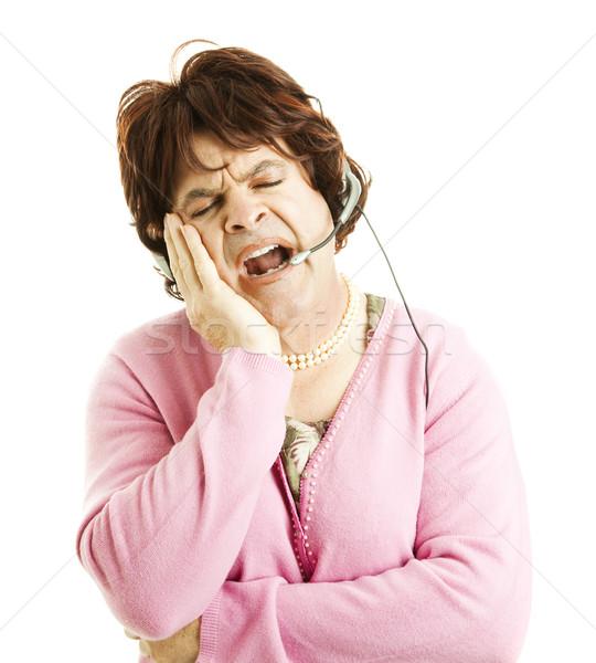 Phone Worker - Sleepy Stock photo © lisafx