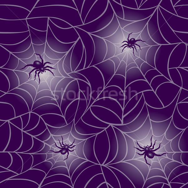 Purple Spider Web Pattern Stock photo © Lisann