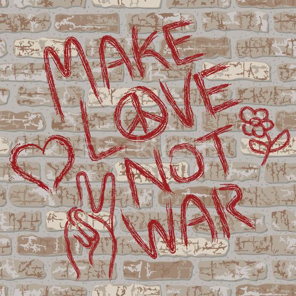 Make Love Not War Stock photo © Lisann