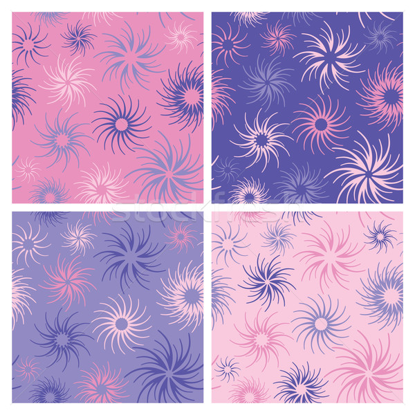 Fire Flower Pattern in Pinks and Lavender Stock photo © Lisann