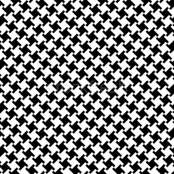 Different Houndstooth_Black-White Stock photo © Lisann