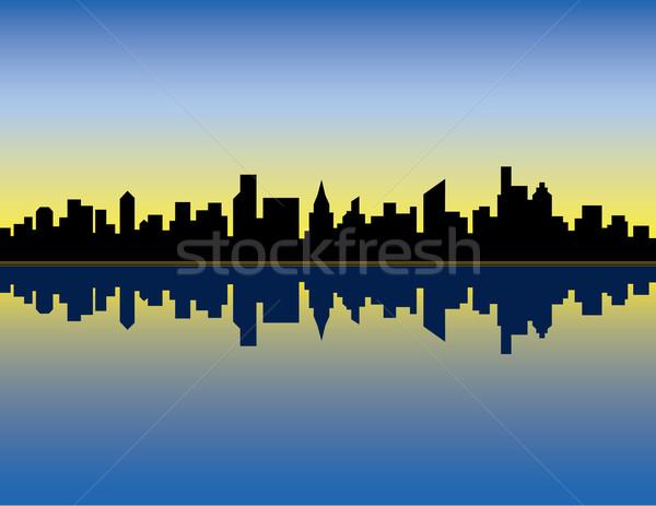 City Skyline_Sunrise Stock photo © Lisann