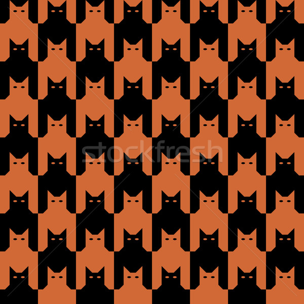 CatsTooth Pattern in Orange and Black Stock photo © Lisann
