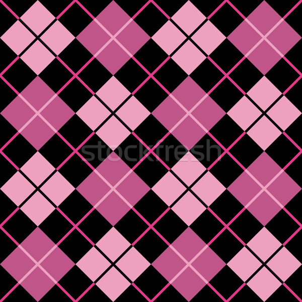 Argyle Pattern_Black-Pink Stock photo © Lisann