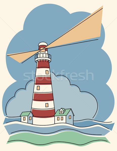 Variegated Lighthouse Stock photo © Lisann