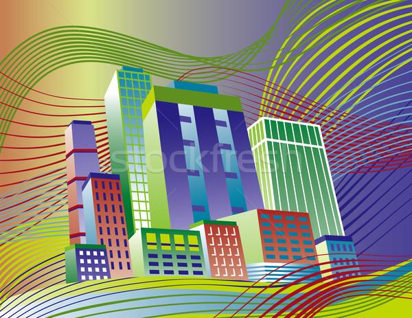 Colorful City Stock photo © Lisann