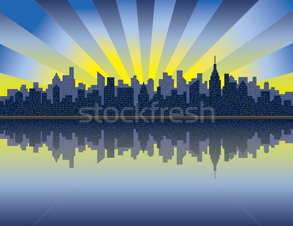 Manhattan Sunrise Stock photo © Lisann