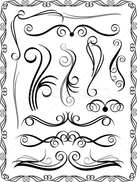 Decorative Borders Set 1 Stock photo © Lisann
