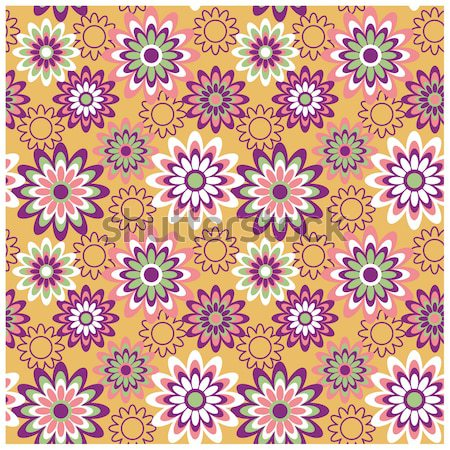 Floral Pattern in Summertime Colors Stock photo © Lisann