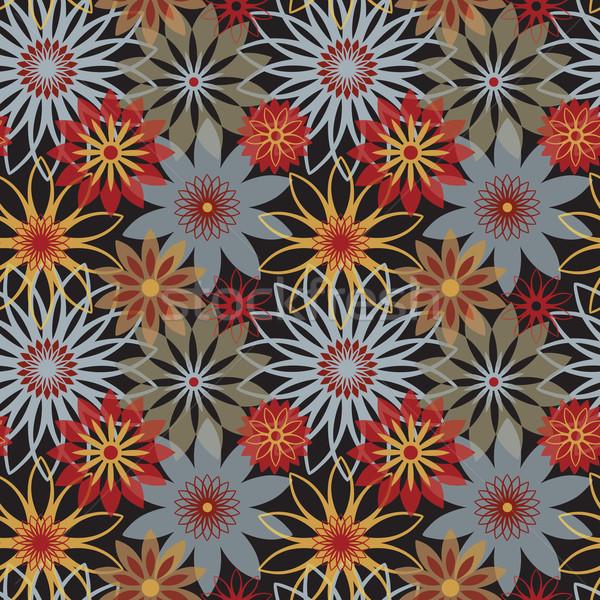 Bold Blossoms_Black Stock photo © Lisann