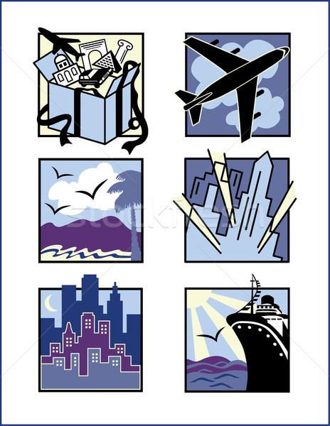Travel Icons Stock photo © Lisann