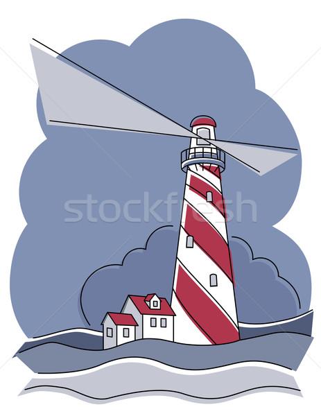 Barber Pole Lighthouse Stock photo © Lisann