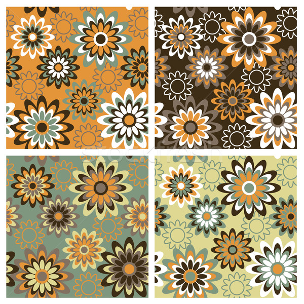 Floral Pattern in Autumn Colors Stock photo © Lisann