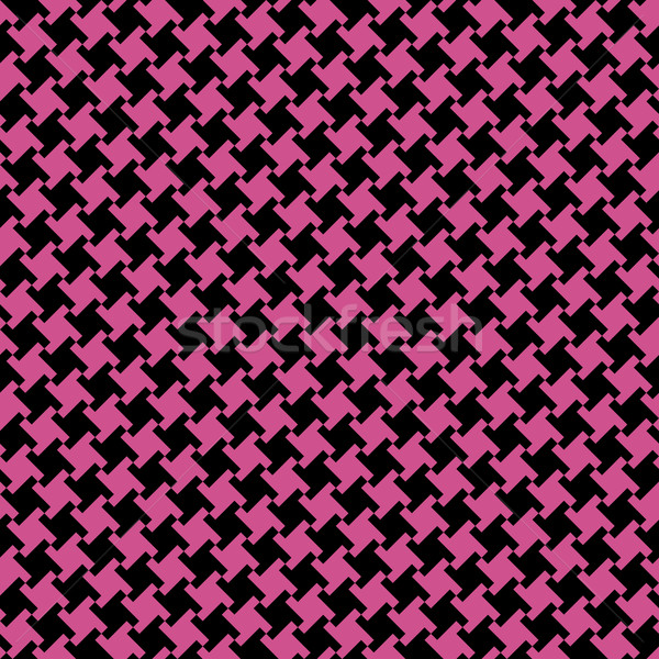 Different Houndstooth_Black-Magenta Stock photo © Lisann