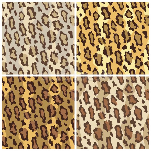 Leopard Spots Pattern in Tame Colors Stock photo © Lisann