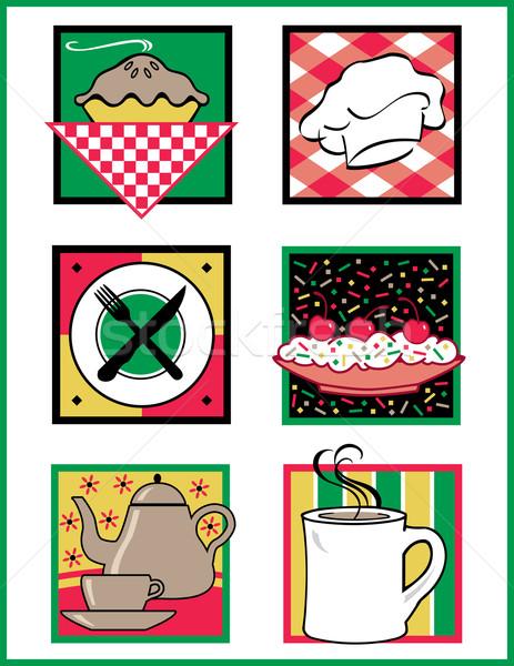 Food Service Icons Stock photo © Lisann