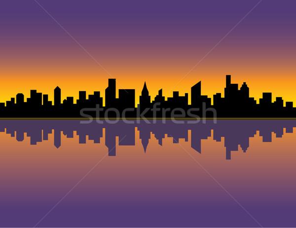 City Skyline_Sunset Stock photo © Lisann