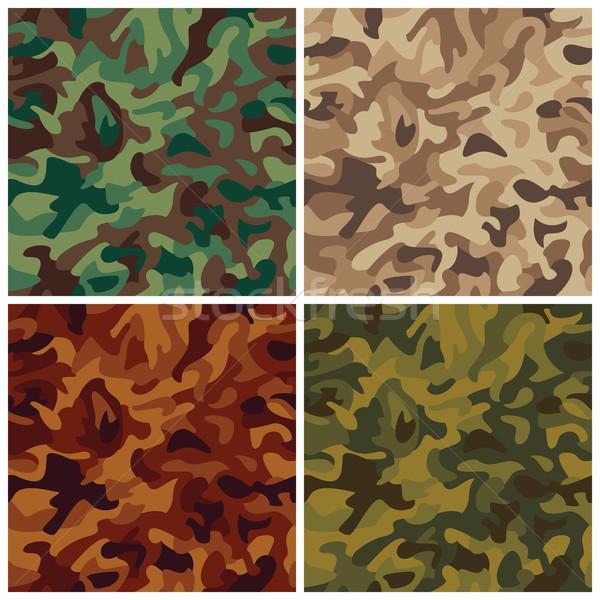 Klasyczny kamuflaż bezszwowy wzór cztery moda Zdjęcia stock © Lisann