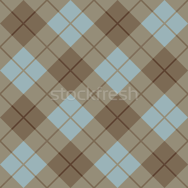 Bias Plaid in Blue and Brown Stock photo © Lisann