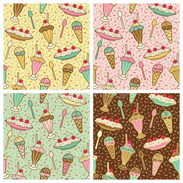 Ice Cream Pattern Stock photo © Lisann