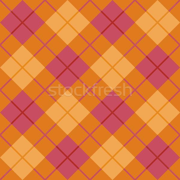 Bias Plaid in Orange and Pink Stock photo © Lisann