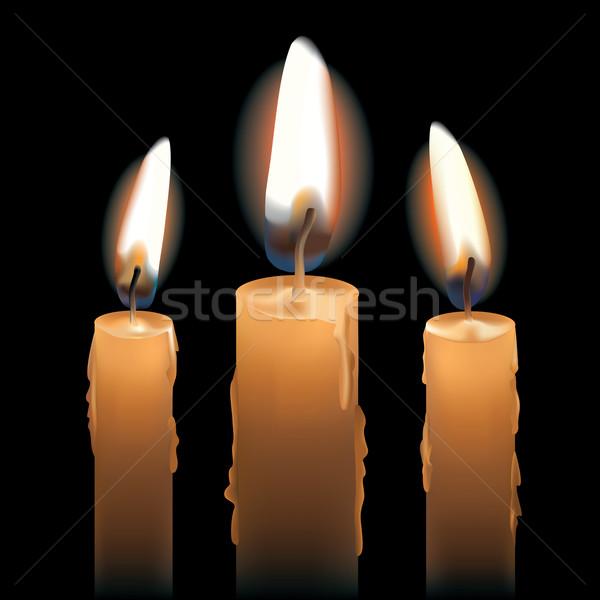 Three Lit Candles Stock photo © Lisann
