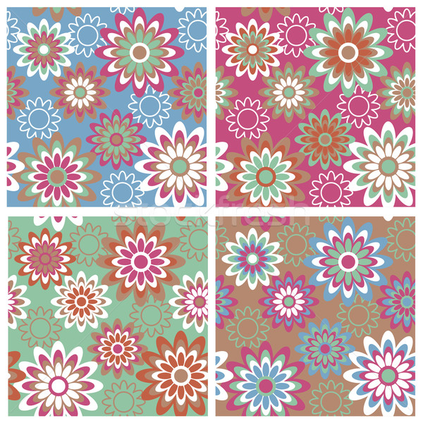 Floral Pattern in Springtime Colors Stock photo © Lisann