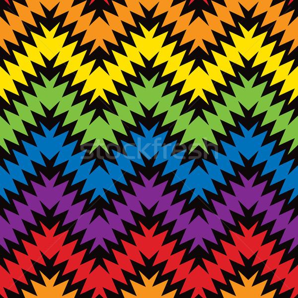 Model zikzak birincil ikincil renkler Stok fotoğraf © Lisann