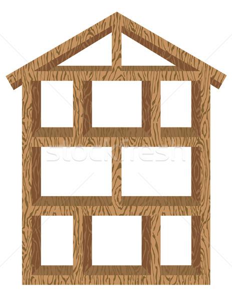 Wood House Frame Stock photo © Lisann