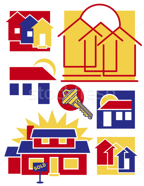 Home Icons Collection 1 Stock photo © Lisann