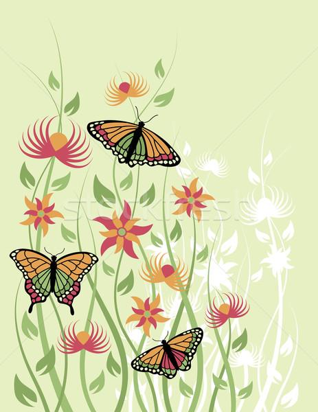 Butterfly Flower Background Stock photo © Lisann