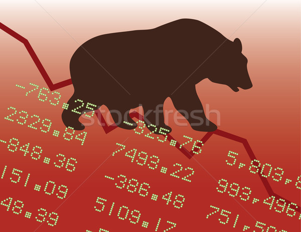 Bear Market in the Red Stock photo © Lisann