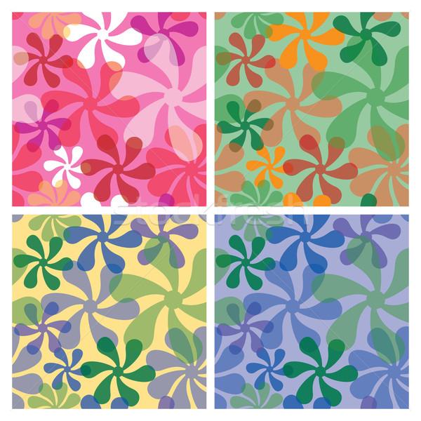 Minta végtelen minta négy háttér zöld kék Stock fotó © Lisann