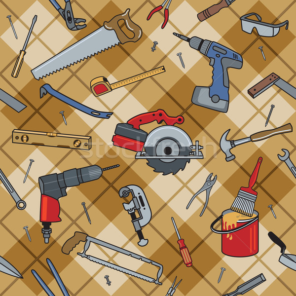 Household Tools Plaid Stock photo © Lisann