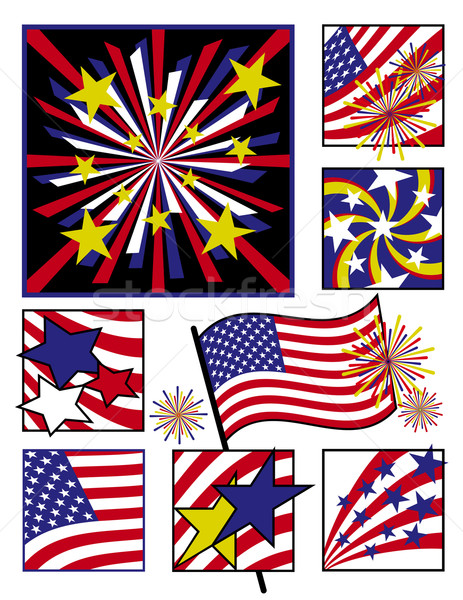 American Celebration in Solid Colors Stock photo © Lisann