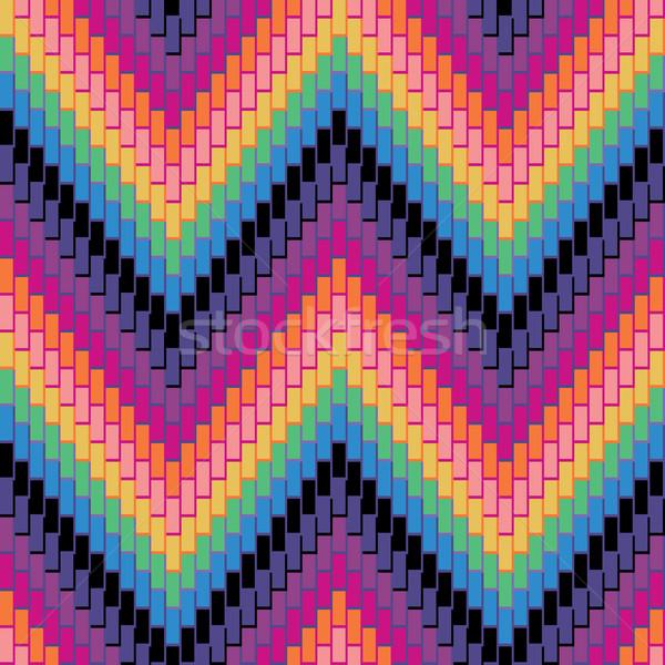 Herringbone Pattern_Multi Stock photo © Lisann