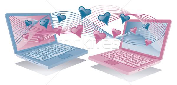 Laptops in Love Stock photo © Lisann