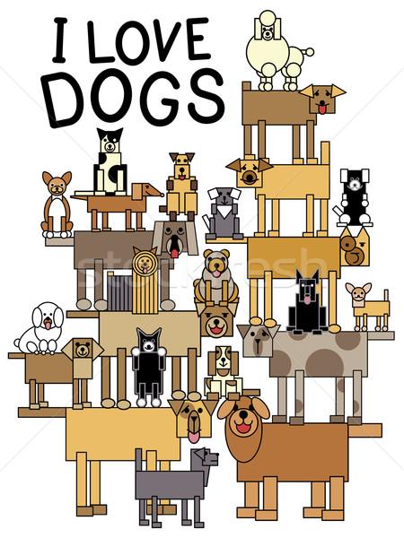 I Love Dogs Stock photo © Lisann