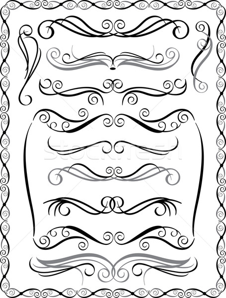 Decorative Borders Set 2 Stock photo © Lisann