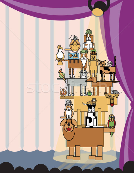 Stock photo: Acrobatic Pets_Stage Left