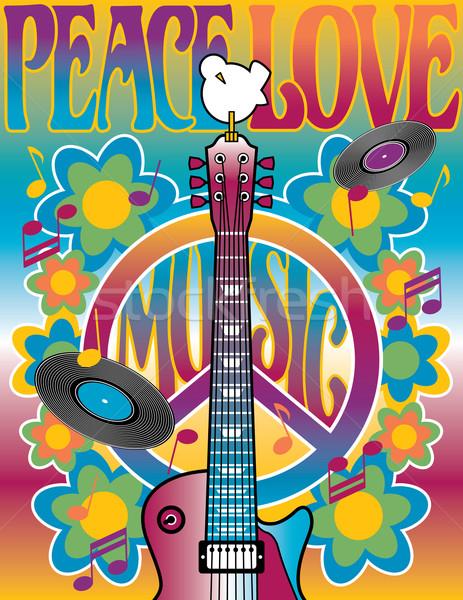 Peace Love Music Stock photo © Lisann