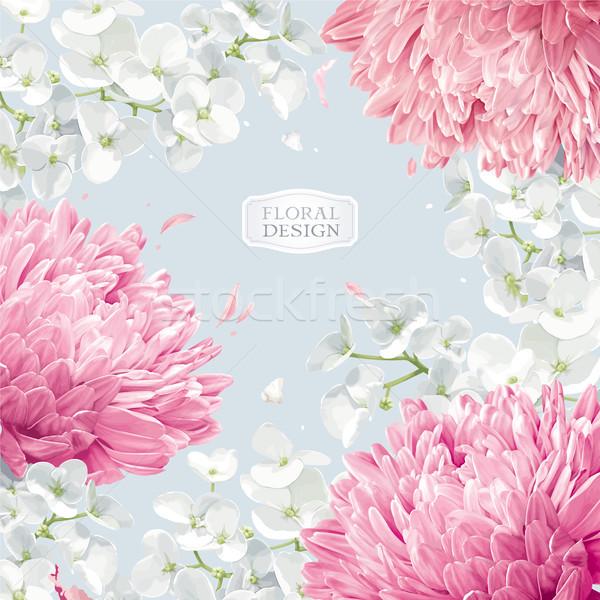 Stockfoto: Appel · bloesem · vector · bloem · vector · aquarel
